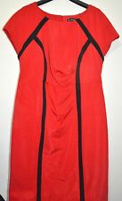 New+tag Ladies Red Shift Dress Kaleidoscope Fitted Size 20 Stretch Smart Office