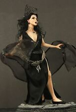 """12"""" Sultry Witch Queen Hand Sculpted Polymer Clay OOAK Doll"""