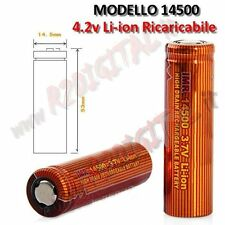 BATTERIA 14500 3,7v 4,2v 4800mA RICARICABILE POWER BANK TRAPANI PALMARI BATTERIE