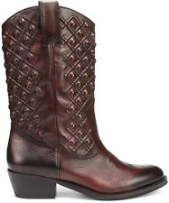 Lucky Brand MADONNA Cordovan Tie Dye Red Cowboy Western Style Boots, 6M - $259