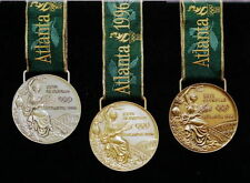 1996 Atlanta Olympic Medals Set: Gold  - Silver  - Bronze with Silk Ribbons!!