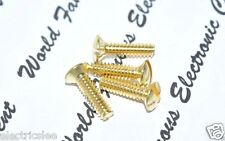 "10pcs - #6-32x1/2"" (12.7mm) Gold-Plated Copper Wallplate Screw"