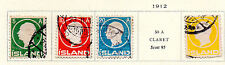 Iceland - Selection from 1912 King Frederick VIII set. Scott #92-96 USED