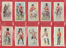 MILITARY - JOHN PLAYER - SCARCE SET OF 50 REGIMENTAL UNIFORMS CARDS - 1914