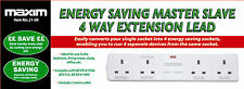 New energy saving master slave 4 way extension plomb avec 1metre Câble 4 way plomb