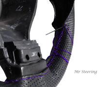Pour Mazda RX-7 86-91 perforé en cuir violet stitch volant couvrir