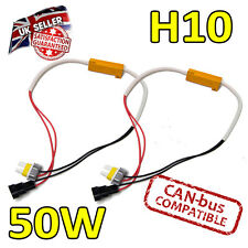 2 x H10 50w LED Error Cancelers 6ohm LED Fog Lights - Error Free - Canbus Safe