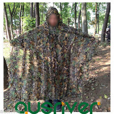 Camouflage Jungle Hunting Ghillie Suit Cloak Cape Hood Woodland Sniper Painball