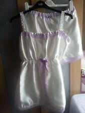Gorgeous Ivory Satin Babydoll & French Knicker Set Sissy CD TV