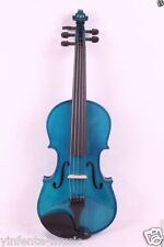 New 5 String Electric Acoustic Violin 4/4 All Parts Include Bow Case Fiddle Blue