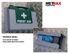 Disposable Glove box & First Aid Kit 1-10 + Holder. Van Site Safety
