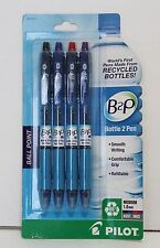 PILOT B2P Ballpoint Retractable Pens 4ct Assorted Colors MADE IN USA
