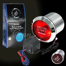 12V Red LED Engine Start Push Button Ignition Starter Switch Car Auto Universal