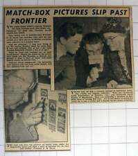 1953 Prof Em Heyn Matchbox Label Pictures Leslie Fairbrother David Parkes Hilda
