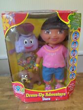 NRFB Dora The Explorer Dress Up Adventure Doll W/ BACKPACK & PUPPY PERRITO