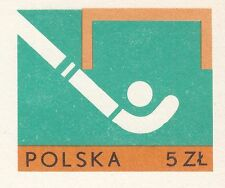 POLAND 1982 **MNH Postcard Cp#816 50 y, a Sports Club POCZTOWIEC - Field Hockey