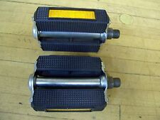 "Vintage NOS Bicycle Moped Union 9/16"" Rubber Block Pedals with Reflectors"