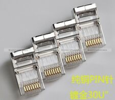 20PCS Cat6/Cat6a/Cat7 RJ45 8P8C Modular Plugs Shielded version AWG23 0.57mm