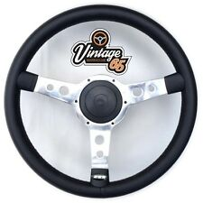 "Ford Capri Mk1 Classic 13"" Retro Polished Vinyl Steering Wheel & Boss Kit"