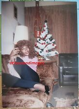 1980s Photo/Sexy Black Woman Red Curly Hair On Couch By Christmas Tree 1165