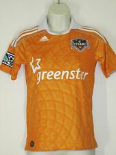 Vintage Houston Dynamo Adidas Orange MLS Soccer Jersey Orange Youth M Medium