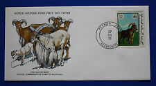 Mauritania (386) 1978 Endangered Animals - Barbary Sheep WWF FDC