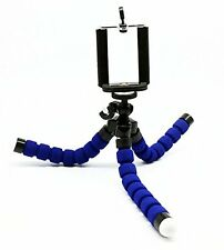 Holder tripod Foldable for smartphones of width of less of 3 3/10in ( Blue )