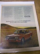 Original 1971 Toyota Corona Magazine Ad - You Loved it the Way it was...