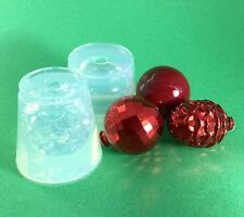 3 CLEAR SILICONE MOLD (MD107) CHRISTMAS TREE TOYS DECOR SET OF THREE MOLDS