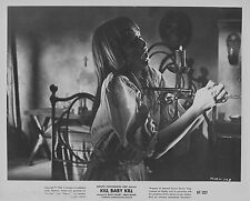 ORIGINAL 1967 PHOTO- KILL BABY KILL - ROSSI STUART - ERIKA BLANC -STABBING CHEST
