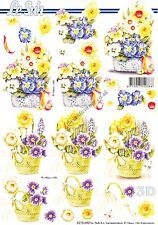 Spring Daffodil Flowers 3D Decoupage Sheet Card Making Crafts CUTTING REQ