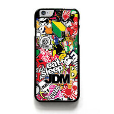 JDM STICKER BOOMS iPhone 4/4S 5/5S 5C 6 6S Plus SE Case Cover Plastic or Rubber