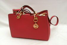 NWT Michael Kors Cynthia Saffiano Leather Medium Satchel Tulip