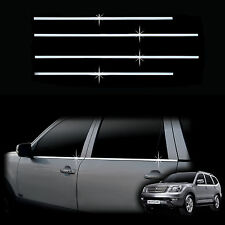 Chrome Door Window Sill Belt Molding Trim Cover for 09+ Borrego Mohave