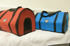 FABRIC CANVAS DOG CAT SMALL MEDIUM TRAVEL CARRIER CARRY BAG CAR CAGE PUPPY PET