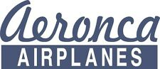 D102 Aeronca Airplanes decal stickers - one set of two (FREE SHIPPING)