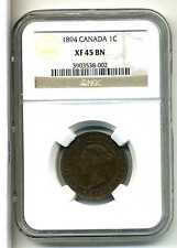 Canada Large Cent 1894,NGC XF 45 BN