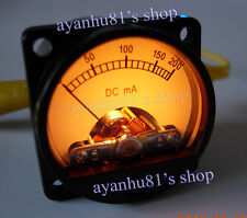 Backlight 200mA DC Current Panel Meter Ammeter Header for EL34 50 Tube Amplifier
