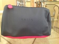 Mally Beauty Gray and Hot Pink Zippered Cosmetics Makeup Bag - So Pretty! New