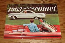 Original 1963 Mercury Comet Sales Brochure 63 Catalog S-22