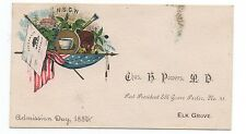 1880 NSGW Native Sons Card C. Powers Elk Grove CA 2)
