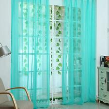 Solid Sheer Curtain Window Curtains Metal Eyelet Voile Panel Valances Nice Hot