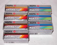 7 x AGFA: AGFACHROME RSX 120 PROFESSIONAL + AGFA OPTIMA 120 PROFESSIONAL 1998
