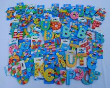 Lot of 57 Letters Wacky Wooden Kids Alphabet Fridge Child Educational Toys