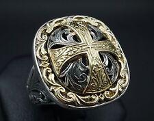 Konstantino 18k Sterling Silver Daphne Maltese Cross Ring Size 6 RS1391