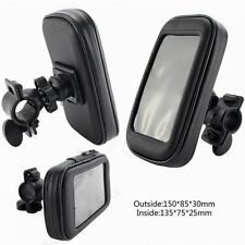 1x New Motorcycle Bike Handlebar Holder Mount Waterproof Bag For Cell Phone GPS