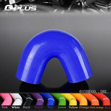"""Silicone Hoses 135 Degree Elbow Hose 38mm 1.5"""" INTERCOOLER PIPE Blue"""