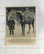 1925 French Derby Candidate Ptolemy Ii Defeated At Longchamp
