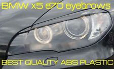 BMW x5 e70 eyebrows, headlight spoiler Genuine ABS plastic NEW