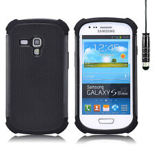 SHOCK PROOF CASE COVER FOR SAMSUNG GALAXY S4 / S3 / MINI + SCREEN GUARD & STYLUS